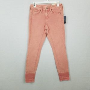 Mid-Rise Skinny Jeans Pink Universal Thread